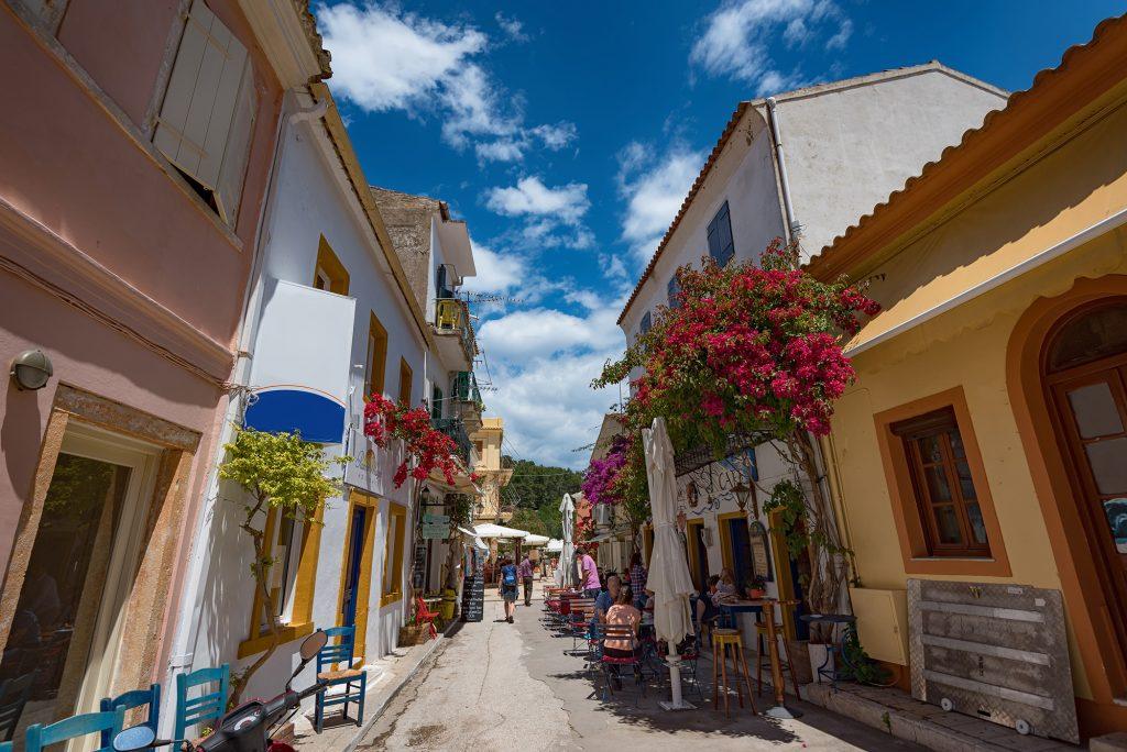 Narrow streets, Gaios, Paxos
